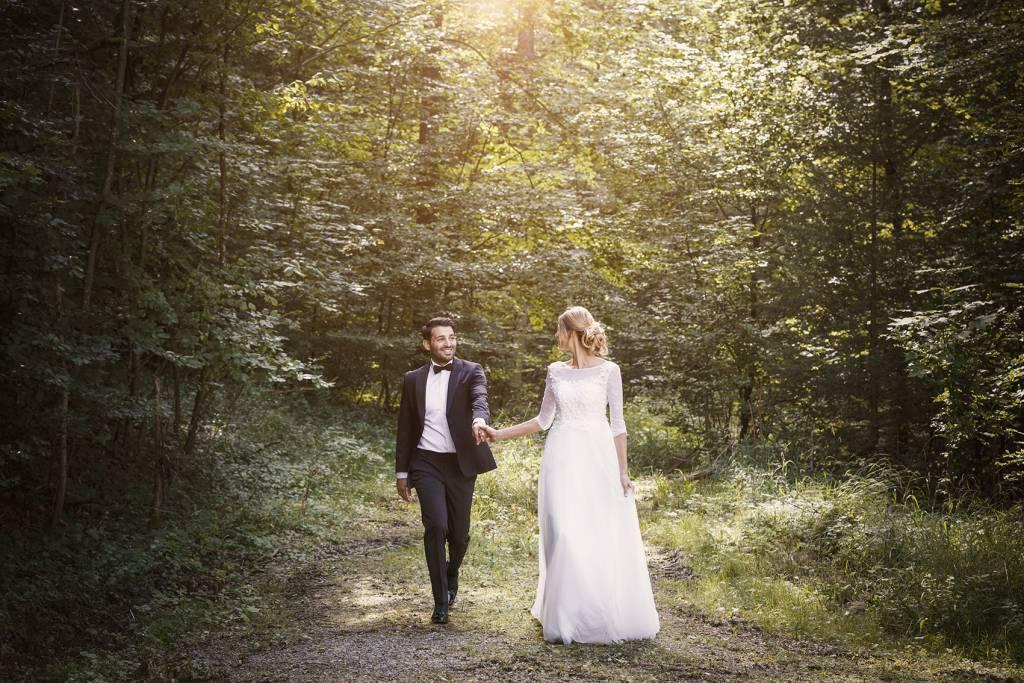 heiraten, Hochzeit, Brautpaar ¦ Coiffeuse Kathrin Puetzer